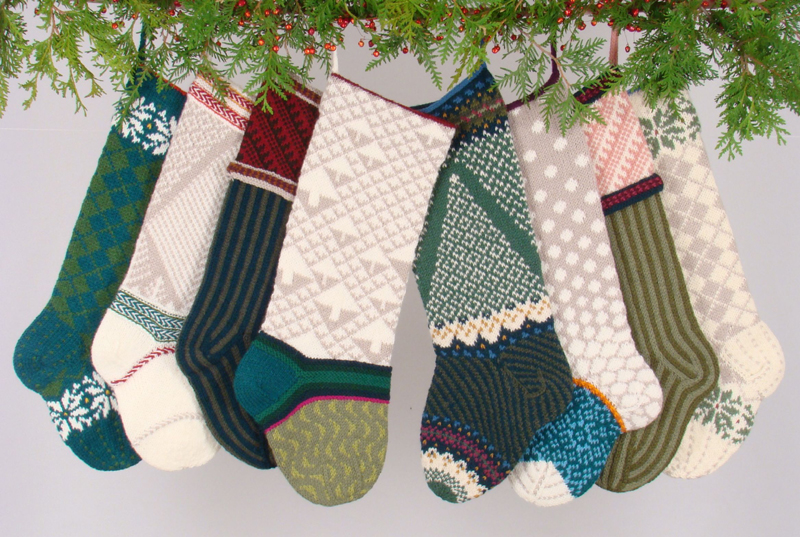 Knit Pattern For Christmas Stocking Kit : VOGUE KNITTING - Knitted Christmas Stockings