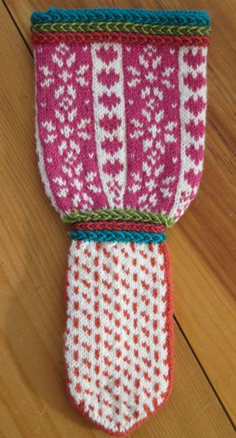 Mitten design inspired Christmas Stocking design