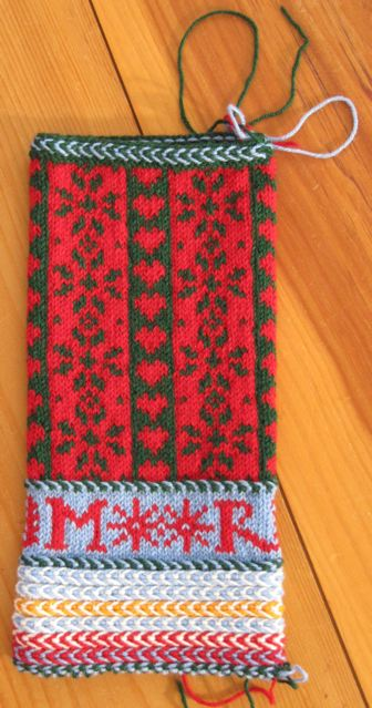 Color change for Skiing Christmas Stocking