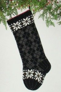 Christmas Argyle black