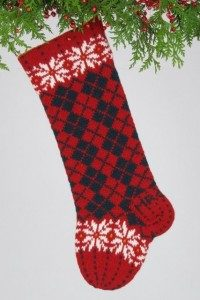 Christmas Argyle, red