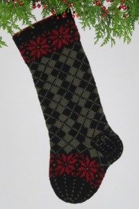 Christmas Argyle, dark green