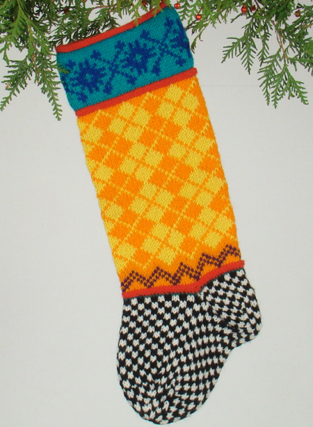 Race Car Pattern Knitted Christmas Stockings