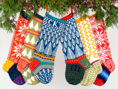 Judy's Colors Knitted Christmas Stockings